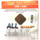 Electrodes bouton pression (50x100 mm) ALLsnap double
