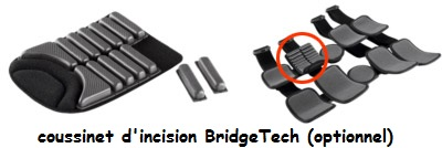 Coussinet d'incision bridgetech-attelle-genou